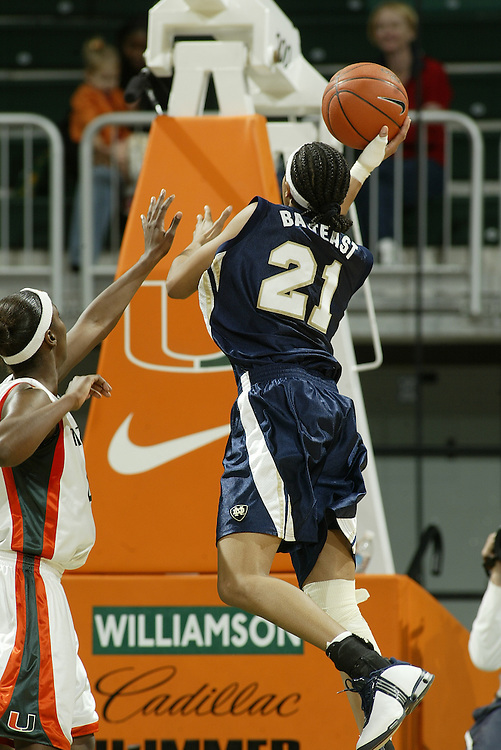JC Ridley Photos Archive<br /> <br /> 2004 Notre Dame Women's Basketball