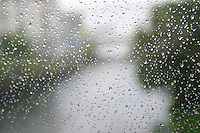Rain on window, Ireland