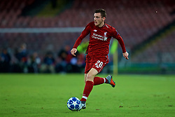 NAPLES, ITALY - Wednesday, October 3, 2018: Liverpool's Andy Robertson during the UEFA Champions League Group C match between S.S.C. Napoli and Liverpool FC at Stadio San Paolo. (Pic by David Rawcliffe/Propaganda)