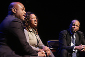 Stage for Debate: Steve Stoute and William Rhoden w/ Danyel Smith held at the Schomburg Center, NYC