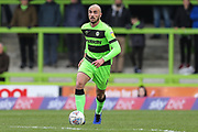 Forest Green Rovers Farrend Rawson(6) on the ball during the EFL Sky Bet League 2 match between Forest Green Rovers and Carlisle United at the New Lawn, Forest Green, United Kingdom on 16 March 2019.