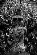 BRIEF. Bevis Bawa's garden. Entrance gate posts designed by the Australian Artist Donald Friend.