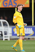Shrewsbury Town goalkeeper Dean Henderson (1) smiling during the EFL Sky Bet League 1 match between AFC Wimbledon and Shrewsbury Town at the Cherry Red Records Stadium, Kingston, England on 12 August 2017. Photo by Matthew Redman.