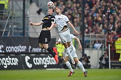 Football: Germany, 2. Bundesliga, 17.05.2015<br />Michael Gregoritsch (VfL Bochum, #11) und Lasse Sobiech (FC St. Pauli, #3) im Luftkampf<br />© pixathlon