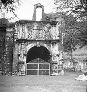 The surviving gate of the A Famosa Portuguese fort in Malacca.