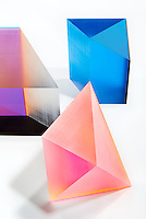 Phillip Low geometric acrylic color sculpture photographed by John Muggenborg.