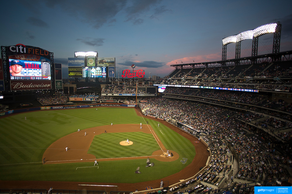 A general view of Citi Field as pitcher Matt Harvey, New York Mets, pitches during the New York Mets Vs Toronto Blue Jays MLB regular season baseball game at Citi Field, Queens, New York. USA. 16th June 2015. Photo Tim Clayton