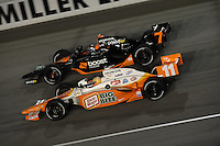 Tony Kanaan, Danica Patrick, Peak Antifreeze and Motor Oil Indy 300, Chicagoland Speedway, Joliet, IL USA