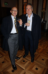 Left to right, REUBEN BERG and STEPHEN BAYLEY at a party to celebrate the publication of 'Dancing into Waterloo' by Nick Foulkes held at The Westbury Hotel, Conduit Street, London on 14th December 2006.<br />