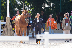 Adelinde Cornelissen, (NED),  Jerich Parzival - Horse Inspection Dressage - Alltech FEI World Equestrian Games™ 2014 - Normandy, France.<br /> © Hippo Foto Team - Leanjo de Koster<br /> 25/06/14