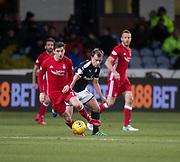 8th December 2017, Dens Park, Dundee, Scotland; Scottish Premier League football, Dundee versus Aberdeen; Dundee's Paul McGowan goes past Aberdeen's Kenny McLean