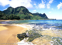 One of my favorite places in the world…Tunnels Beach, aka Makua. Makana mountain in the background.