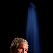 President Bush speaks before a Victory 2004 rally Monday, Sept., 20, 2004, in New York City...Photo by Khue Bui