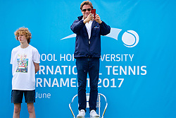 LIVERPOOL, ENGLAND - Thursday, June 15, 2017: Tournament Director Anders Borg during Day One of the Liverpool Hope University International Tennis Tournament 2017 at the Liverpool Cricket Club. (Pic by David Rawcliffe/Propaganda)