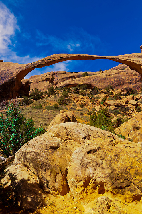 Landscape Arch, Arches National Park, near Moab, Utah USA
