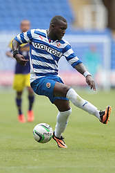 Reading defender Royston Drenthe (10) tries yet another step over during the pre-season friendly game between Reading and Swansea City.  Photo mandatory by-line: Nigel Pitts-Drake/JMP  - Tel: Mobile:07966 386802 27/07/2013 - Reading v  Swansea City  - SPORT - FOOTBALL - pre-season - Reading - Madejski Stadium