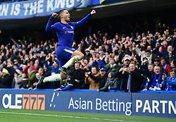 Eden Hazard of Chelsea celebrates.  - Mandatory by-line: Alex James/JMP - 02/12/2017 - FOOTBALL - Stamford Bridge - London, England - Chelsea v Newcastle United - Premier League