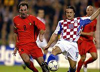 Fotball<br /> EM-kvalifisering<br /> 10.09.2003<br /> Belgia v Kroatia<br /> NORWAY ONLY<br /> Foto: Phot News/Digitalsport<br /> <br /> BART GOOR / NIKO KOVAC