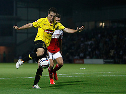 Burton Albion's Jack Dyer goes close with this shot - Photo mandatory by-line: Matt Bunn/JMP - Tel: Mobile: 07966 386802 27/08/2013 - SPORT - FOOTBALL - Pirelli Stadium - Burton - Burton Albion V Fulham -  Capital One Cup - Round 2