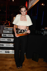 EMMA WATSON winner of the Woman of the Year Award at the GQ Men of The Year Awards 2013 in association with Hugo Boss held at the Royal Opera House, London on 3rd September 2013.