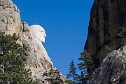 South Dakota SD USA, Mount Rushmore National Monument George Washington  profile.