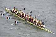 London, Great Britain.<br /> Oxford Brookes I, competing in the<br /> 2016 Head of the River Race, Reverse Championship Course Mortlake to Putney. River Thames. Saturday  19/03/2016<br /> <br /> [Mandatory Credit: Peter SPURRIER;Intersport images]