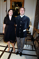 The HON.KIRSTIE ALLSOPP and BEN ANDERSON at a party to celebrate the 180th Anniversary of The Spectator magazine, held at the Hyatt Regency London - The Churchill, 30 Portman Square, London on 7th May 2008.<br />