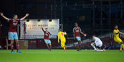 UPTON PARK, ENGLAND - Friday, September 12, 2014: Liverpool's Samed Yesil celebrates scoring the third goal against West Ham United during the Under 21 FA Premier League match at Upton Park. (Pic by David Rawcliffe/Propaganda)