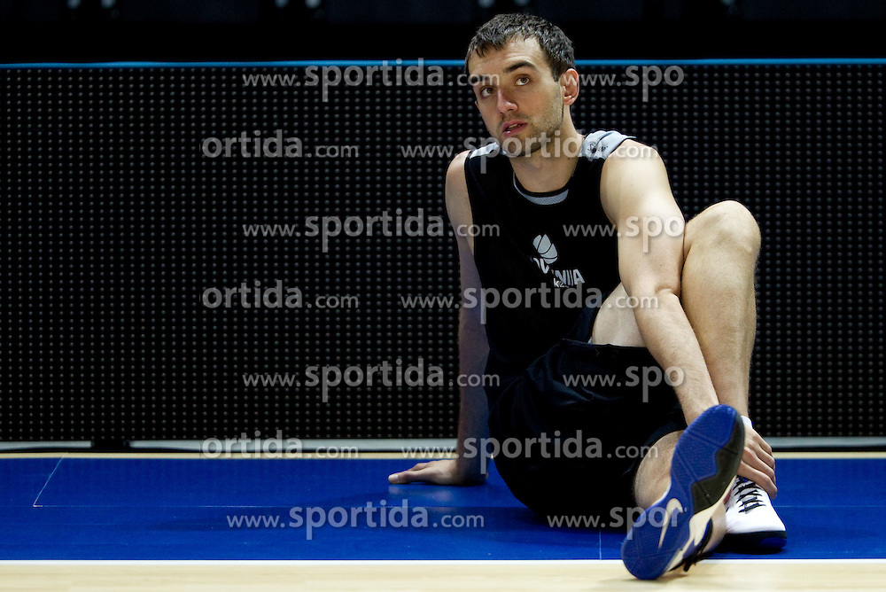 Mirza Begic of Slovenia during practice session of Slovenia National basketball team at Preliminary Round of Eurobasket Lithuania 2011, on September 4, 2011, in Arena Svyturio, Klaipeda, Lithuania. (Photo by Vid Ponikvar / Sportida)