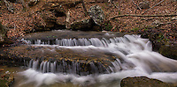 A spring above Triple/Twin Falls in Arkansas is one multiple water sources feeding this waterfall.