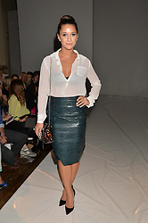 ROXIE NAFOUSI at the Gyunel Spring Summer 2015 fashion show as part of London Fashion week 2015 held at Victoria House, Bloomsbury Square, London on 12th September 2014.
