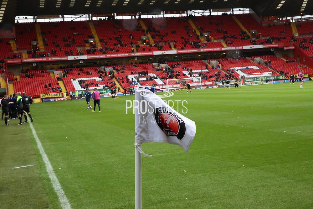 A number of fans were protesting prior to kick off and a number of fans refused to take their seats during the Sky Bet Championship match between Charlton Athletic and Sheffield Wednesday at The Valley, London, England on 7 November 2015. Photo by Matthew Redman.