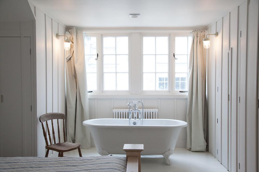 The Elliotts' bedroom, Pickwell Manor, Georgeham, North Devon, UK.<br /> CREDIT: Vanessa Berberian for The Wall Street Journal<br /> HOUSESHARE