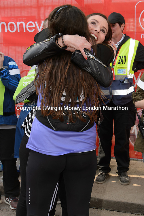 Megan Ramsay with her mother Tana Ramsay. The Virgin Money London Marathon, 23rd April 2017.<br /> <br /> Photo: Joanne Davidson for Virgin Money London Marathon<br /> <br /> For further information: media@londonmarathonevents.co.uk