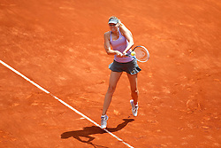 06.05.2014, Madrid, ESP, WTA Tour, Madrid Open, im Bild Russian tennis player Maria Sharapova // Russian tennis player Maria Sharapova during the Madrid Open of WTA Tour at the Madrid, Spain on 2014/05/06. EXPA Pictures © 2014, PhotoCredit: EXPA/ Alterphotos/ Victor Blanco<br /> <br /> *****ATTENTION - OUT of ESP, SUI*****