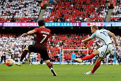 Harry Kane of England fires a shot at goal  - Mandatory byline: Matt McNulty/JMP - 07966386802 - 22/05/2016 - FOOTBALL - Etihad Stadium -Manchester,England - England v Turkey - International Friendly