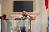 Roma, 9  Luglio 2012.Consiglio comunale in Campidoglio nell'aula Giulio Cesare per  la discussione sulla  cessione del 21% della controllata Acea, l'azienda che si occupa di acqua e servizi. Ugo Cassone, Il Popolo della Libertà