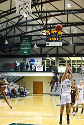 17 December 2011:  Karen Solari gets a free shot during an NCAA womens division 3 basketball game between the St. Francis Fighting Saints and the Illinois Wesleyan Titans in Shirk Center, Bloomington IL