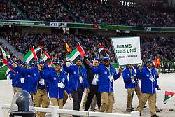 Opening Ceremony, Team UAE <br /> Alltech FEI World Equestrian Games™ 2014 - Normandy, France.<br /> © Hippo Foto Team - Leanjo de Koster<br /> 25/06/14