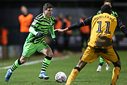 Forest Green Rovers Jack Aitchison(29), on loan from Celtic runs forward during the EFL Sky Bet League 2 match between Forest Green Rovers and Port Vale at the New Lawn, Forest Green, United Kingdom on 11 February 2020