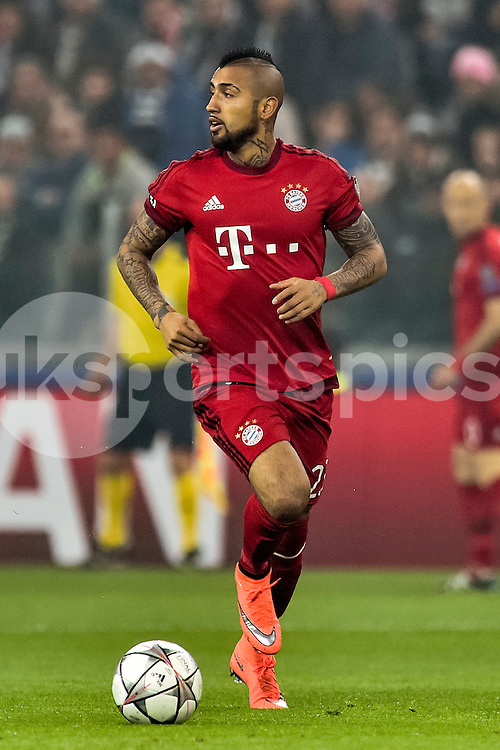 Arturo Vidal of Bayern Munchen during the UEFA Champions League match Round of 16 between Juventus and Bayern Munich at the Juventus Stadium, Turin, Italy on 23 February 2016. Photo by Giuseppe Maffia.