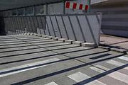 Stripes and shadows in an urban landscape of an underground car park in the Slovenian capital, Ljubljana, on 27th June 2018, in Ljubljana, Slovenia.