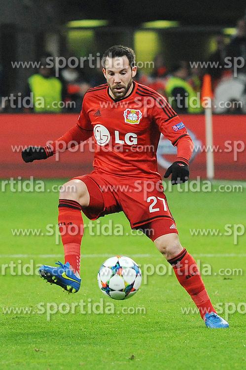 25.02.2015, BayArena, Leverkusen, GER, UEFA EL, Bayer 04 Leverkusen vs Atletico Madrid, 1. Runde, R&uuml;ckspiel, im Bild Gonzalo Castro ( Bayer 04 Leverkusen ) // during the UEFA Europa League 1st Round, 2nd Leg match between Bayer 04 Leverkusen and Atletico Madrid at the BayArena in Leverkusen, Germany on 2015/02/25. EXPA Pictures &copy; 2015, PhotoCredit: EXPA/ Eibner-Pressefoto/ Thienel<br /> <br /> *****ATTENTION - OUT of GER*****