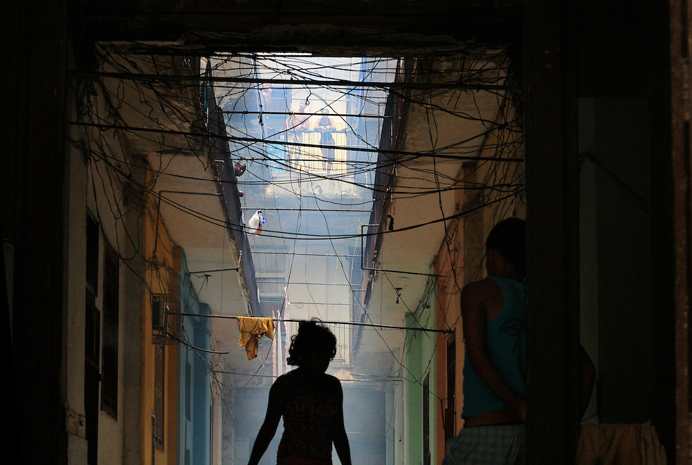 Interesting wiring in an apartment block, old Havana, Cuba.