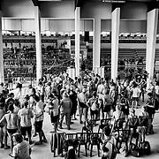 La piscine avant le début des competitions, aux  Jeux Nationaux Special Olympics 2017 d'Italie, pour handicappés mentaux