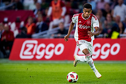 14-08-2018 NED: Champions League AFC Ajax - Standard de Liege, Amsterdam<br /> Third Qualifying Round,  3-0 victory Ajax during the UEFA Champions League match between Ajax v Standard Luik at the Johan Cruijff Arena / David Neres #7 of Ajax