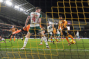 Hull City defender Michael Dawson (21) scores goal to go 1-1 during the EFL Sky Bet Championship match between Hull City and Barnsley at the KCOM Stadium, Kingston upon Hull, England on 27 February 2018. Picture by Ian Lyall.