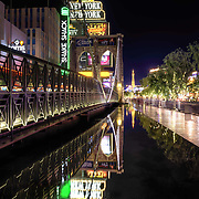 Bright lights and reflections make Las Vegas an excellent place to take night photography