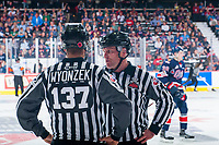 REGINA, SK - MAY 25: Linesman at the Brandt Centre on May 25, 2018 in Regina, Canada. (Photo by Marissa Baecker/CHL Images)