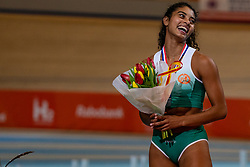 Killiana Heymans second on pole vault during the Dutch Indoor Athletics Championship on February 23, 2020 in Omnisport De Voorwaarts, Apeldoorn